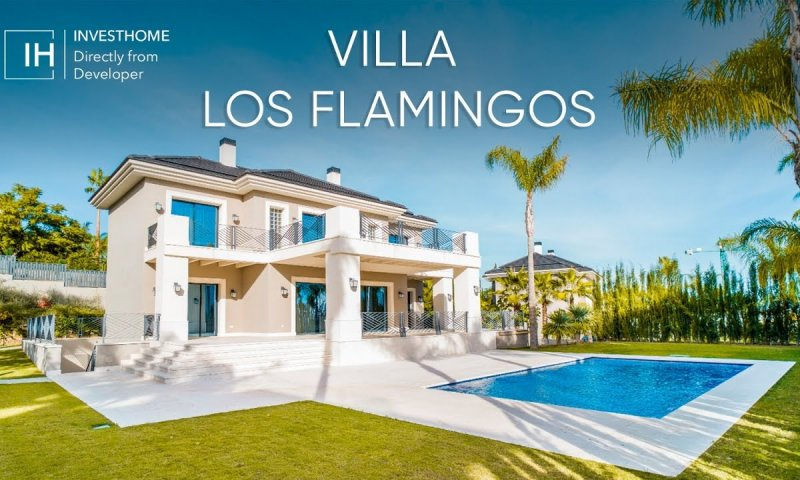 New video of our modern villa in urb. Los Flamingos